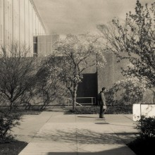 Drexel's campus, shot in late March on my 1947 Bessa 66. Delta 3200, pulled to 1600 and toned in Lightroom.