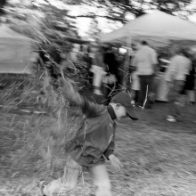 Finally catching up on a boatload of scanning, and I keep finding stuff I like. Like this one of Jake and me having a hayfight at the Harvest Festival a few weeks ago.