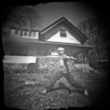 Made with a homemade matchbox pinhole camera, shot on Acros 100, and developed in DD-X. Almost all of my shots were terribly over-exposed, which I find rather unbelievable but undeniable. Next year I'll need a faster shutter. Which is to say finger-over-the-pinhole. :)